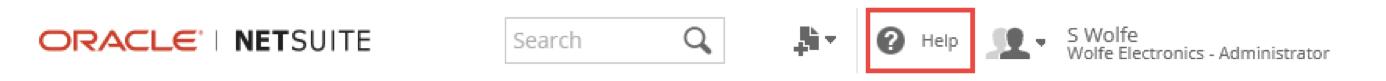 """Oracle NetSuite提供了各种资源""""支持""""选项卡"""
