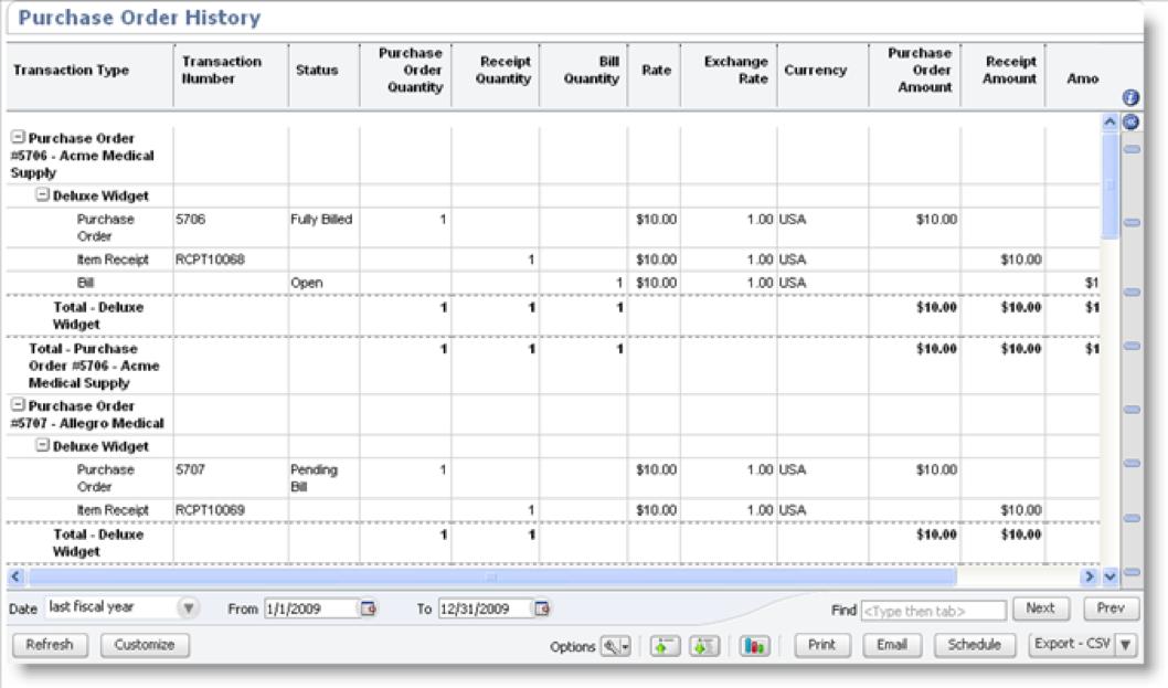 Oracle NetSuite订单直接发货和特殊订单:订单历史报告